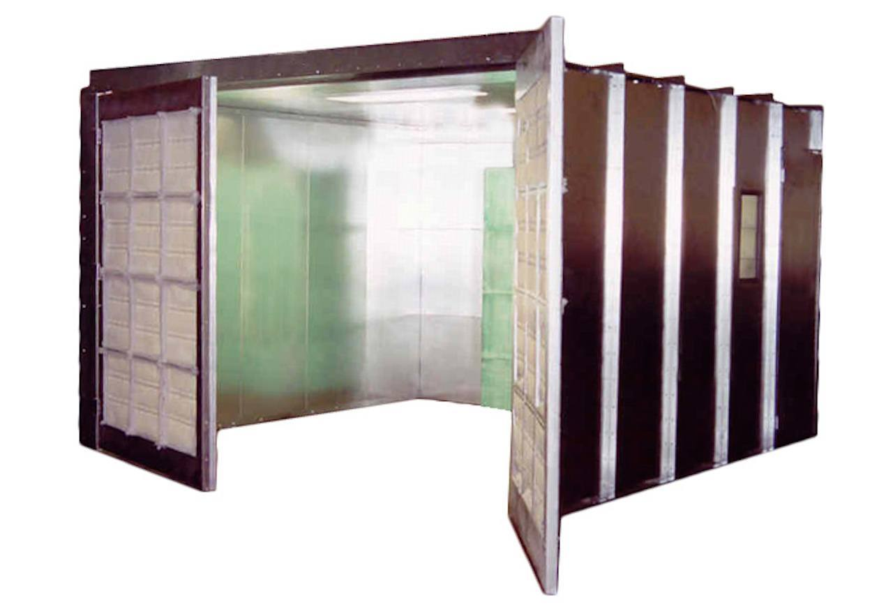 Enclosed Industrial Paint Booth